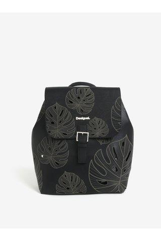 Černý vzorovaný perforovaný batoh Desigual Attalea Toronto