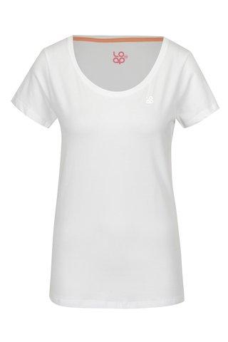 Bílé dámské tričko s krátkým rukávem LOAP Blair
