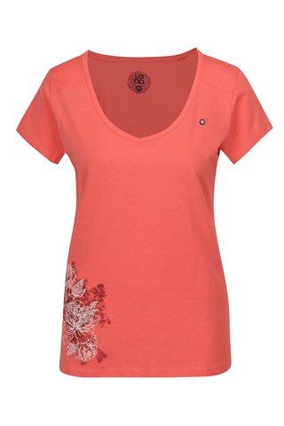 Tricou corai cu print floral LOAM Abigale