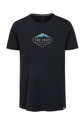 Tricou basic bleumarin cu logo LOAP Bandos