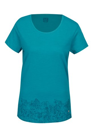 Tricou turcoaz cu print ornamental pentru femei LOAP Balisey