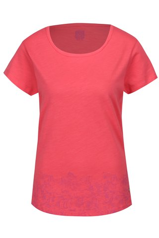 Tricou roz cu print ornamental pentru femei LOAP Balisey