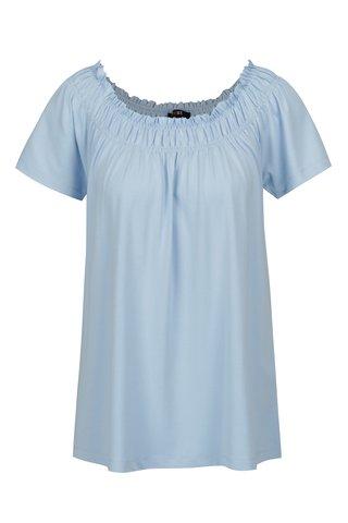 Bluza bleu cu decolteu cu insertie elastica - Yest