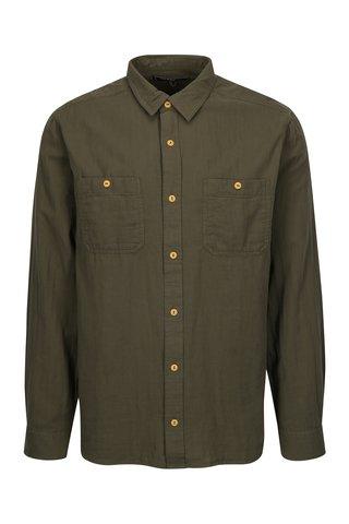 Camasa verde inchis din bumbac pentru barbati - BUSHMAN Seadrift