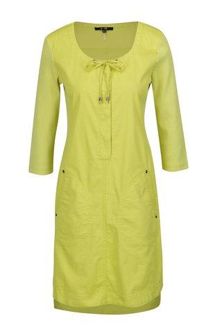 Rochie verde lime cu maneci 3/4 - Yest