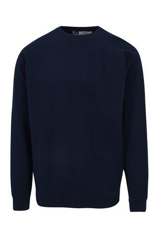 Bluza basic bleumarin cu model marunt  Dedicated Waffle