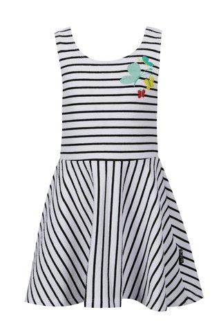 Černo-bílé holčičí pruhované šaty bez rukávů tuc tuc Fantasy