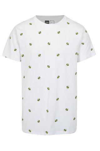 Tricou alb cu print dolari Dedicated Flying Dollars