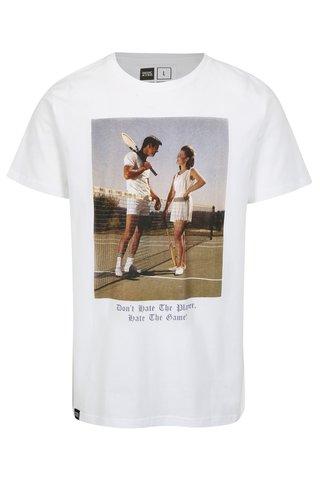 Tricou alb cu print fotografie Dedicated Player