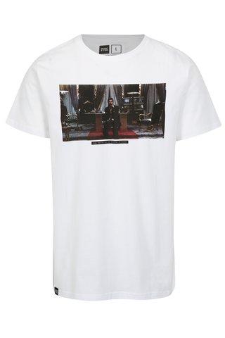 Tricou alb cu print imagine Dedicated Scarface Little Friend