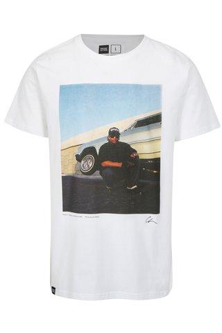 Tricou alb cu print foto Dedicated Eazy-E