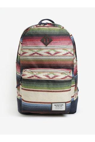 Zeleno-béžový pruhovaný batoh Burton Kettle 20 l
