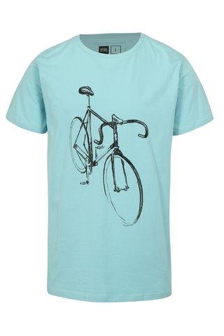 Tricou turcoaz cu print desen cu bicicleta Dedicated Drawn Bike