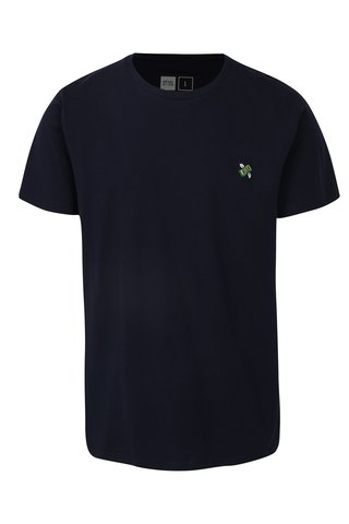 Tricou bleumarin cu detaliu brodat Dedicated Flying Dollar