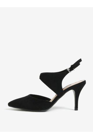 Pantofi cu toc negri cu decupaj la calcai Dorothy Perkins