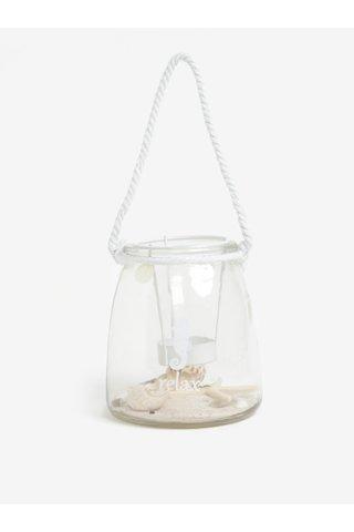 Lampa din sticla cu suport pentru lumanare Kaemingk
