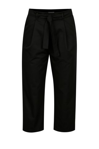 Pantaloni cropped negri cu cordon - From Kaya with Love Havel