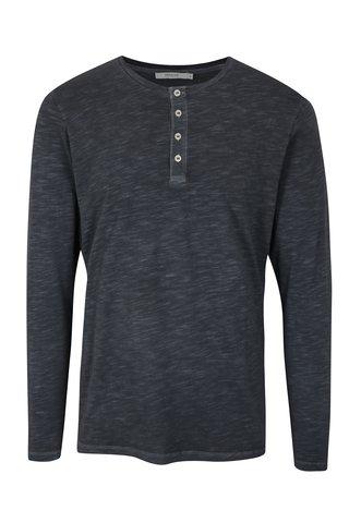 Tmavě modré tričko s dlouhým rukávem Jack & Jones Wolfsburg