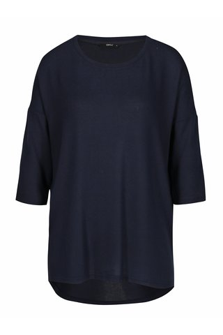 Pulover asimetric bleumarin cu maneci 3/4 - ONLY New Maye