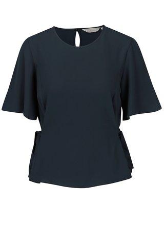 Bluza bleumarin cu maneci fluture - Dorothy Perkins Petite