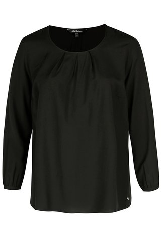Bluza neagra cu decolteu rotund Ulla Popken