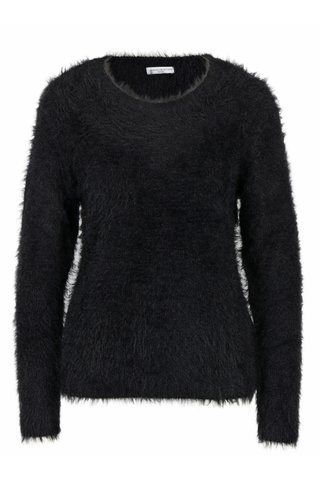 Pulover negru pufos - Jacqueline de Yong Kane