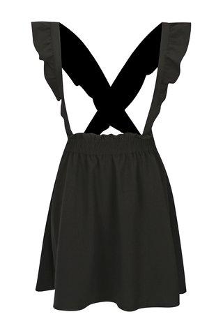 Sarafan negru cu bretele incrucisate cu volane detasabile - ONLY Vacan