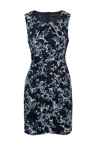 Rochie bleumarin cu print floral - Mela London
