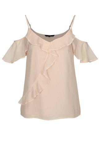 Bluza roz pal cu volane VERO MODA Kenzie