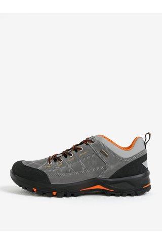 Šedé pánské kožené voděodolné boty Weinbrenner
