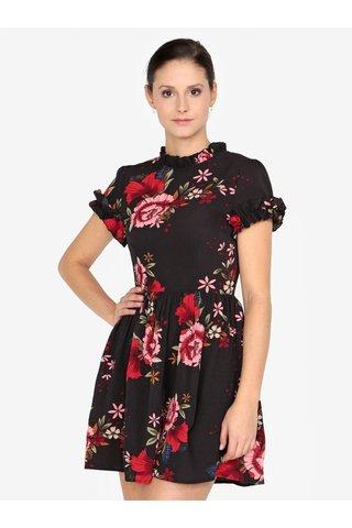 Rochie neagra clos cu print floral AX Paris