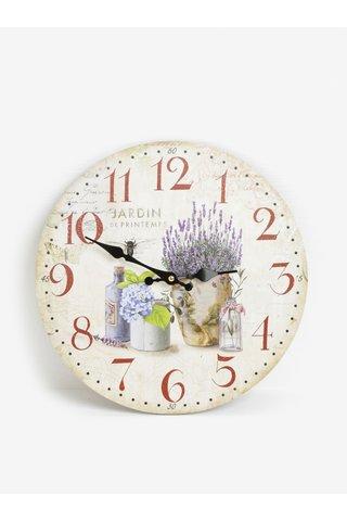 Ceas de perete cu print floral Dakls
