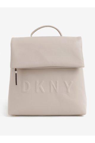 Rucsac bej cu logo stantat - DKNY Tilly