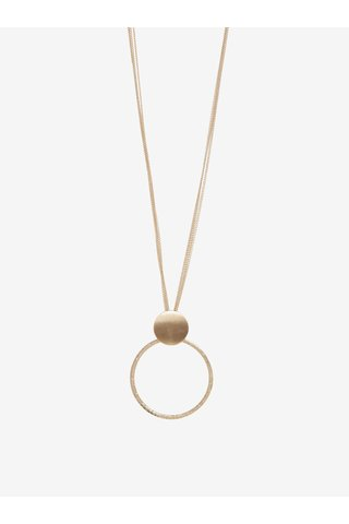 Colier auriu cu pandantiv circular Pieces Ganja