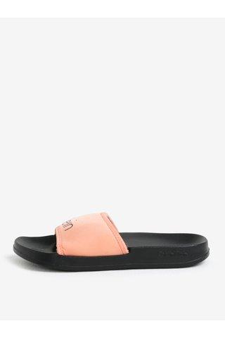 Papuci de dama roz piersica si negru Calvin Klein