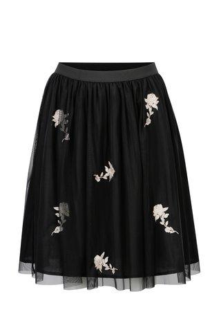 Tutu negru cu broderie florala ONLY Lana