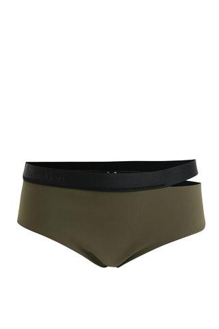 Slip de  baie verde inchis cu decupaj lateral - Calvin Klein