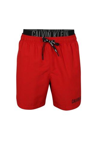 Pantaloni scurti de baie rosii cu logo in talie -  Calvin Klein