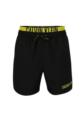 Pantaloni scurti de baie negri cu logo in talie - Calvin Klein