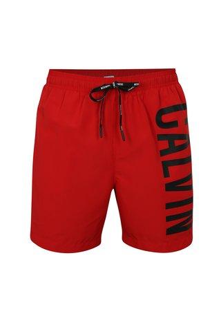 Pantaloni scurti de baie rosii cu print pentru barbati -  Calvin Klein