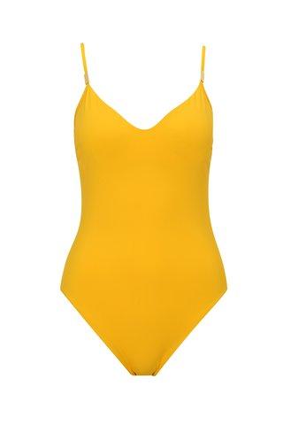 Costum de baie intreg galben cu spate decupat - Calvin Klein