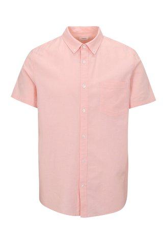 Camasa roz cu maneca scurta din bumbac - Burton Menswear London