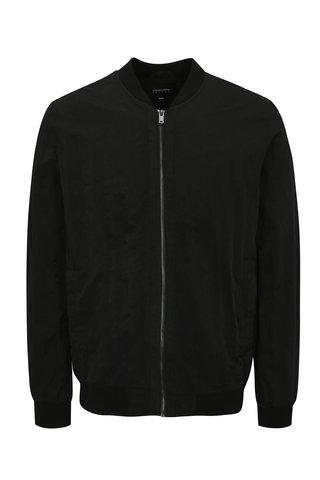 Jacheta bomber neagra cu buzunar interior - Burton Menswear London