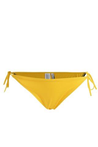 Slip de baie galben cu snururi laterale si logo -  Calvin Klein