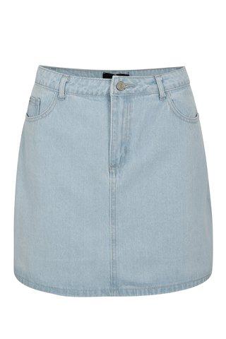 Světle modrá džínová minisukně MISSGUIDED