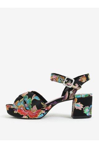 Sandale negre cu platforma si broderie florala - Pepe Jeans Hooper Spring