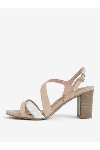 Sandale roz deschis din piele naturala - Tamaris