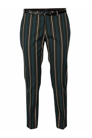Pantaloni conici cu dungi verde inchis & negru si curea - Scotch & Soda
