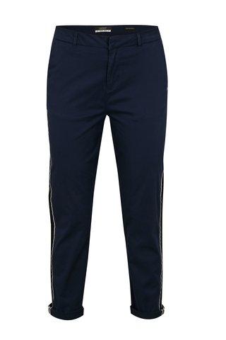 Pantaloni chino regular bleumarin cu dungi contrastante - Scotch & Soda
