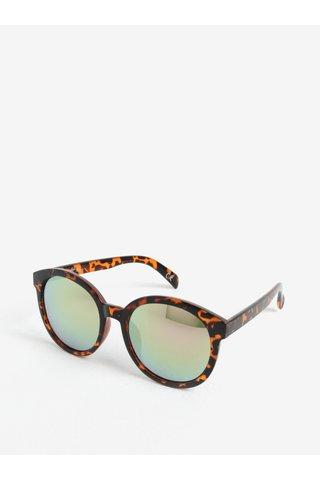 Ochelari de soare maro&negru rotunzi cu imprimeu tortoise - Jeepers Peepers